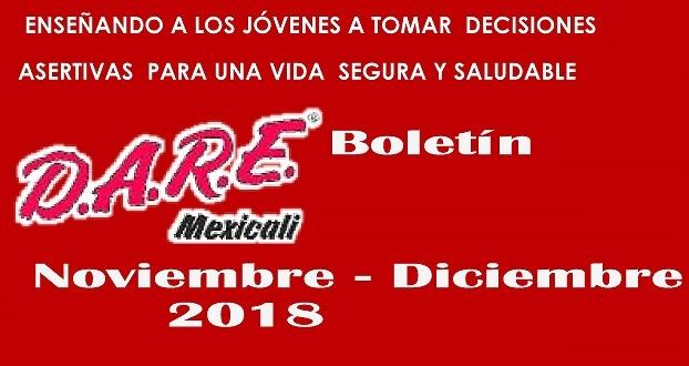 📰 Boletín DARE Mexicali Nov – Dic 2018